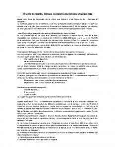 Conseil municipal nr du 8 janvier 2018