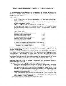 Conseil municipal nr du 5 fevrier 2018