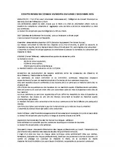 Conseil municipal du 7 decembre 2015