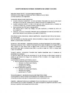 Conseil municipal du 4 mai 2015