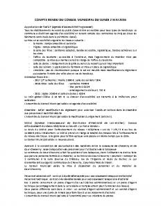 Conseil municipal du 2 mai 2016