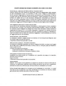 Conseil municipal du 3 mai 2018