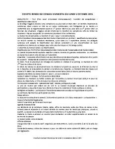 Conseil municipal du 5 octobre 2015