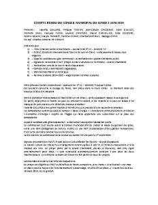 Conseil du 2 juin 2014