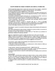 Conseil municipal du 1er fevrier