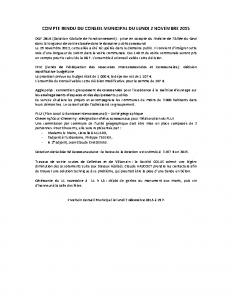 Conseil municipal du 2 novembre 2015