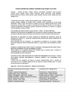 Conseil du 5 mai 2014