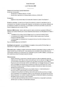 Conseil Municipal du Lundi 7 Décembre 2020