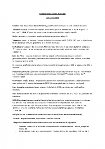 Conseil Municipal du Lundi 6 Juillet 2020