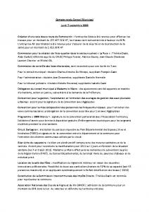 Conseil Municipal du Lundi 7 Septembre 2020