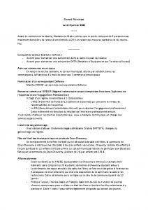 Conseil Municipal du Lundi 4 Janvier 2021