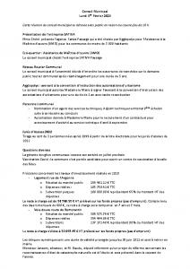 Conseil Municipal du Lundi 1er Février 2021