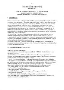 Budget annexe – Primitif 2021