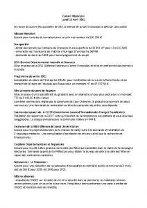 Conseil Municipal du Lundi 12 Avril 2021