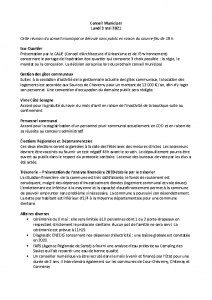 Conseil Municipal du Lundi 3 Mai 2021