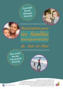 Plaquette Association pour les familles monoparentales de Loir et Cher
