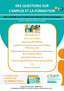 Service emploi CIDFF Affiche